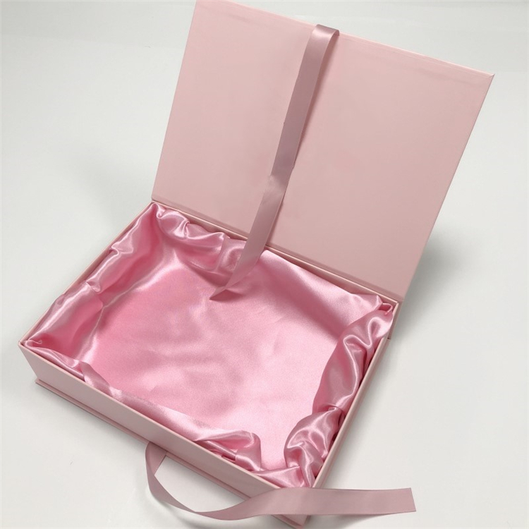 Pink Paper Folding Hair Extension Packaging Gift Box