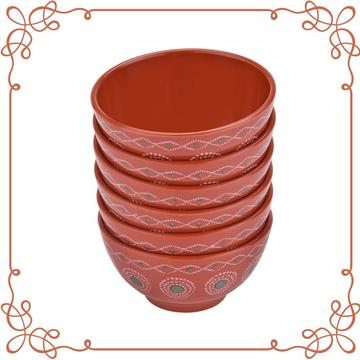 4 Inch Melamine Deep Bowl Set of 6