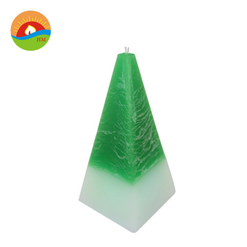 decoration cone shape real wax custom candles