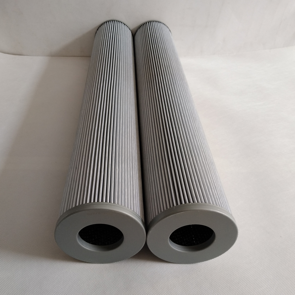 Low pressure oil filter element