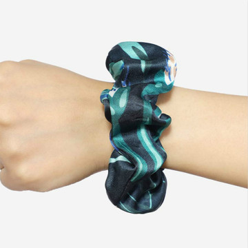Luxury 19MM Silk Large Hair Scrunchies Ties Ropes