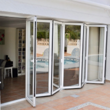Lingyin Construction Materials Ltd Simple design aluminum glass bi-folding door for house