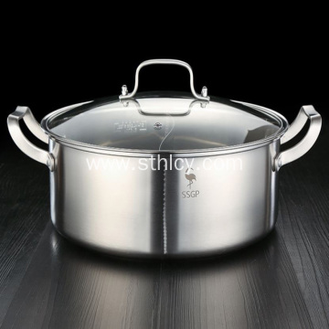 304 Stainless Steel Stock Pot Two-flavor Hot Pot