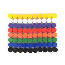 100 PCS Wooden Game Pieces Pawn/Chess Boardgame/Educational Games Accessories 8 Colors
