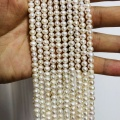 Discount products,Natural Fresh water pearls 4-5mm potato pearls necklace jewelry beads,10strings/lot