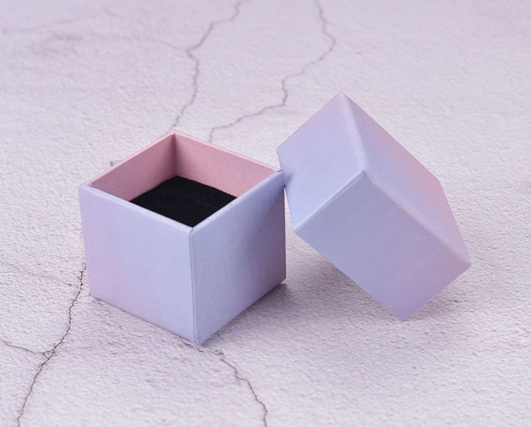 Gradient ramp cardboard ring earring fine jewelry boxes