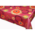 Printed flower Tablecloth With Non Woven Backing