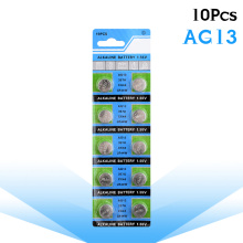 10 Pcs AG13 LithiumButton Coin Cell Battery LR44 357A S76E G13 1.55V SR44 SR44SW SR44W SR47 V13GA For Clocks Watch Calculators