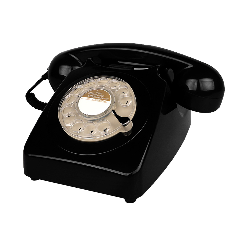 Corded Retro Landline Phones Yellow Vintage Rotary Dial Telephone Antique Telephones for Home Office Shops and Art Decor Gift