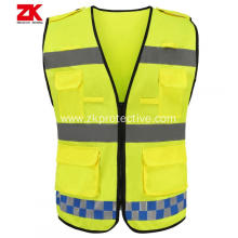 best safety reflective vest with pockets for workers