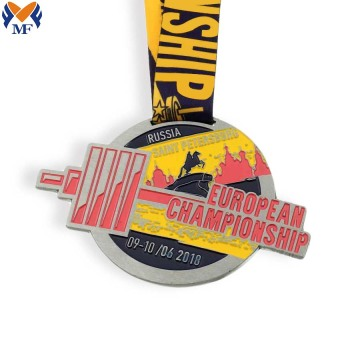 Personalized city metal champion medal