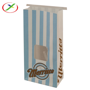 Stand up paper bag with clear window