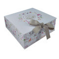 Perfect Folding Gift Paper Box with Satin Ribbon