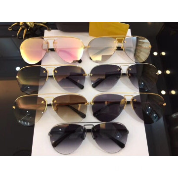 Semi Rimless Oval Sunglasses For Women