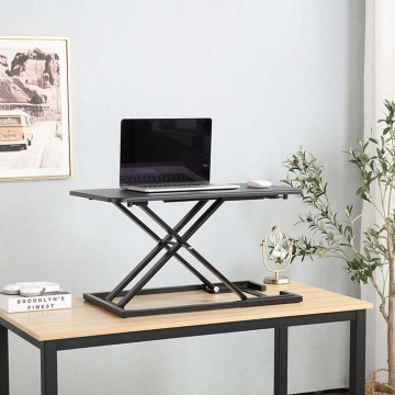 Sit Stand Desk Standing Pneumatic Table Converter