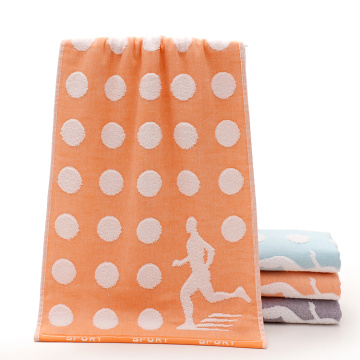 Softest Orange Colored Cheap Gym Towels