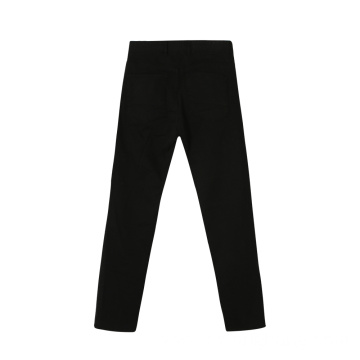 Man's Black Cotton Pandex Twill Cargo Pants
