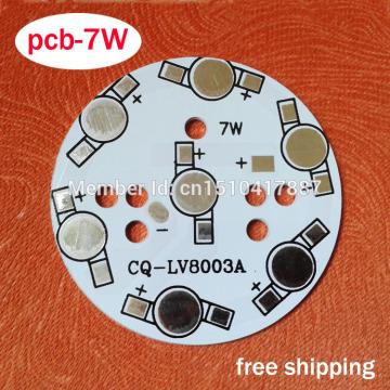 7W LED PCB 49mm for 7pcs LEDs, aluminum plate base, Aluminum PCB Printed Circuit Boards, high power 7W LED DIY PCB