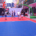 Suspended surface modular sports flooring tiles