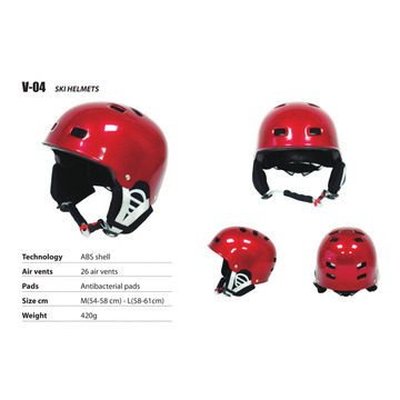 Bright red Ski Helmet for adult