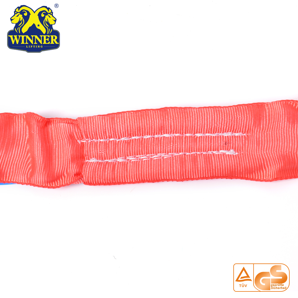 High Strength Soft 100% Polyester 5Ton Round Sling