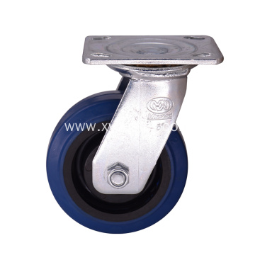 5 Inch Industrial Rubber Caster Wheel  Swivel