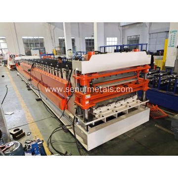 Double floor deck roll forming machine