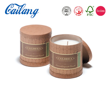 Cylinder Personalized Candle Packaging Box