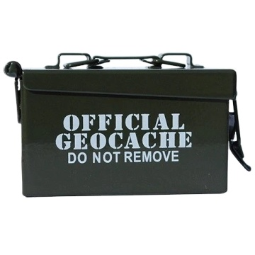 Eastommy hot selling Army green geocaching ammo box