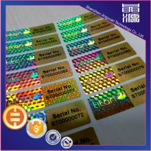 Security sticker with serial number 3D hologram labels