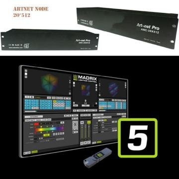 Madmapper Compatible Broadcast ArtNet LED Controller