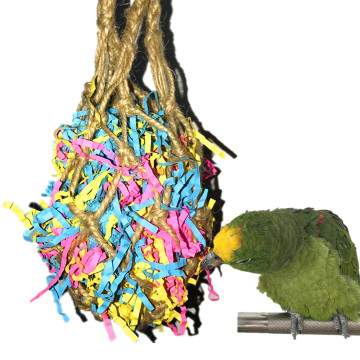 Bird Toys Hanging Pulling Mesh Bag Foraging Bird Wire Drawing Toy 2019new Arrivals Best Selling Dropshipping Household Family
