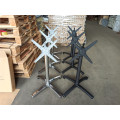 metal folding table leg with flip top