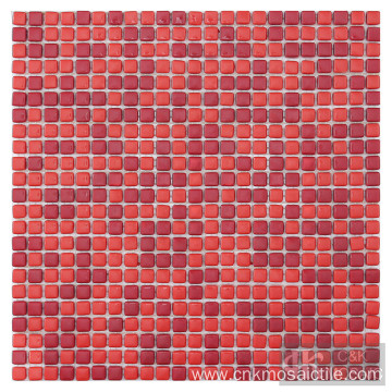 Square Shape Red Mix Mosaic Tile for Wall
