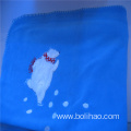 Anti Pilling Polar Fleece Blanket with Embroidered