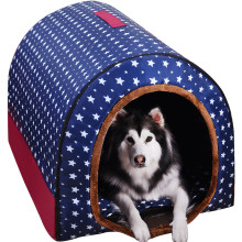 New Warm Dog House Comfortable Print Stars Kennel Mat For Pet Puppy Foldable Cat Sleeping Bed high quality pet products