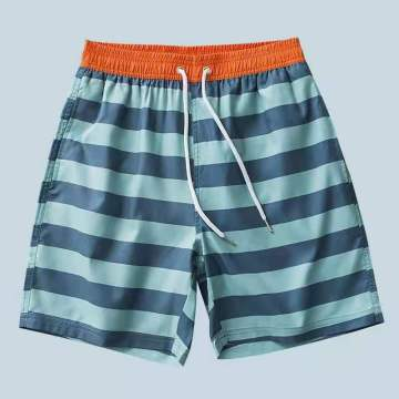 Men's Beach Shorts With Drawstring