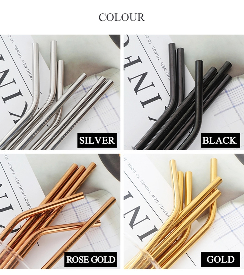 18/8 Refinement Stainless Steel Straw