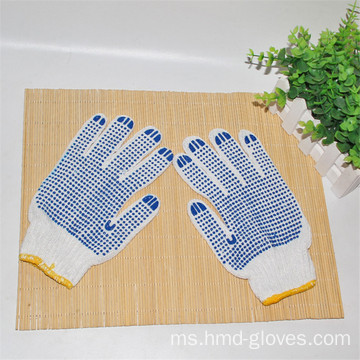 Double Side Dotted Navy Blue Knitted Gloves