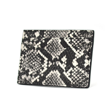 Custom Logo Brand Python Leather Credit Card Holder
