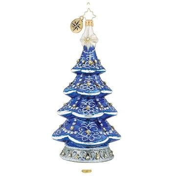 Christmas Tree Shaped Blown Customized Glass Ornaments