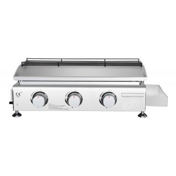 3 Burner Portable Table Top Gas Grill Griddle