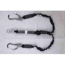 Energy absorber Lanyard with Two Big Safety Hooks and Single Mid Hook