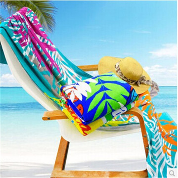 Adult Hooded Beach Towel Poncho With Elastic