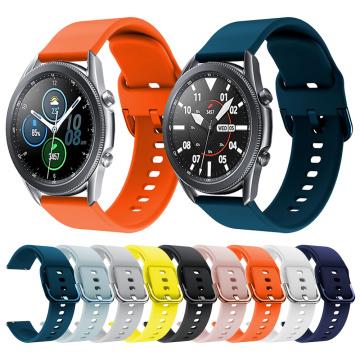 Soft Silicone Strap For Samsung Galaxy Watch3 41mm Smart watch Sport bracelet For Galaxy Watch 3 45mm Wrist Strap Accessories