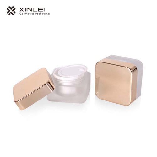 50 g Square Cream Packaging Acrylic Jar
