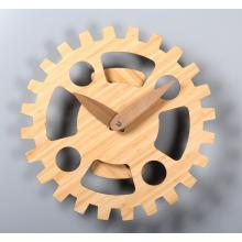 14 Inch Wooden Serrated Gear Wall Clock