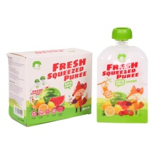 8 Pcs/pack Baby Food Squeeze Storage Double Zipper Pouches BPA Free Solid Feeding 100ml