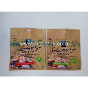 Plastic Print Packaging Bag with Euro Slot