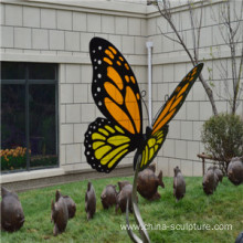 Customized Modern Best sold Simulation Stainless steel Animal Sculpture-butterfly